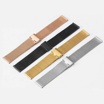 12-24mm Mens Ladies Stainless Steel Watch Mesh Bracelet Strap Replacement Ba.fr