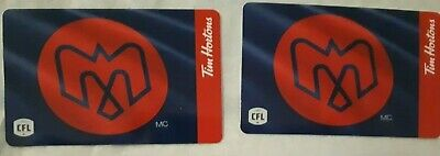 NEW 2019 Tim Hortons CFL Gift card Montreal Alouettes Lot of 2
