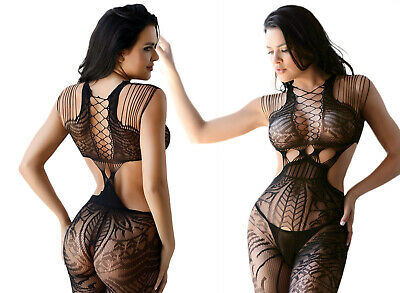 Women Sexy Lingerie Tribal Fishnet Cutout Full Body Plus Size Bodystocking