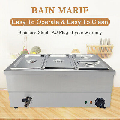 4 Pots Electric  Bain Marie Catering  Wet Heat  1/3 &1/6 Commercial Food Warmer