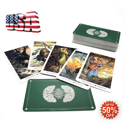 78Pcs/Set Cards Wild Wood Tarot Cards Beginner Deck Vintage Fortune Telling USA