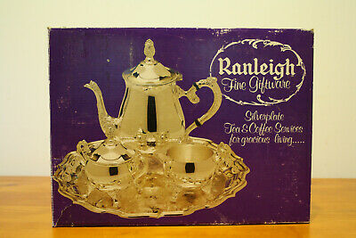 Ranleigh Silverplate Tea & Coffee set (tray not included)
