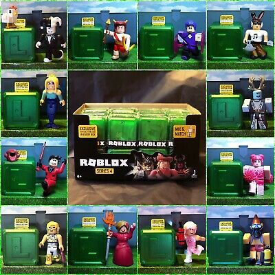 Roblox Celebrity Series 4 NEW! Mystery Action Figures GREEN Kids Toys Pack+Codes