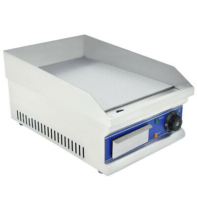 Commercial Electric Griddle BBQ Grill Plate Hot Stainless Steel Countertop 2000W