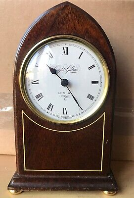 Knight & Gibbins London Wooden Mantle Vlock Ex Condition Fully Working. Cg