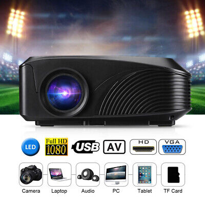 Support 1080P LED-4018 Portable Projector 1200 Lumens 800*480 130 Inch W2F7