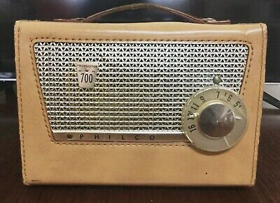 "Vintage PHILCO Transistor ""700"" Radio  built in USA 1957 in Great Working Order"
