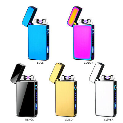 Dual Arc Plasma Lighter Electric Flameless Windproof USB Rechargeable Lighters