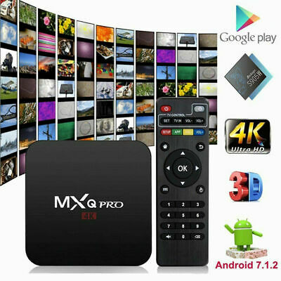 MXQ Pro 4K Smart TV Box Ultra HD 3D 64Bit Wifi Android 7.1 Quad Core w/ KODI 18