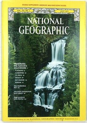 Vintage National Geographic Magazine July 1977 Vol. 152 No. 1 Map Included