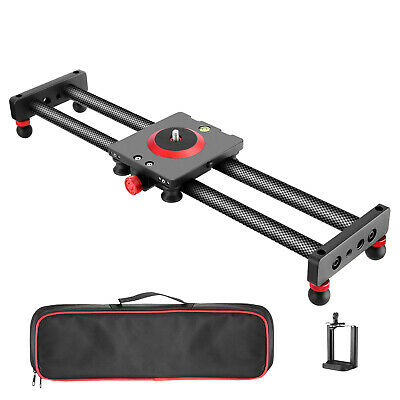 Neewer Camera Slider Carbon Fiber Dolly Rail 11.8 inches with 4 Bearings