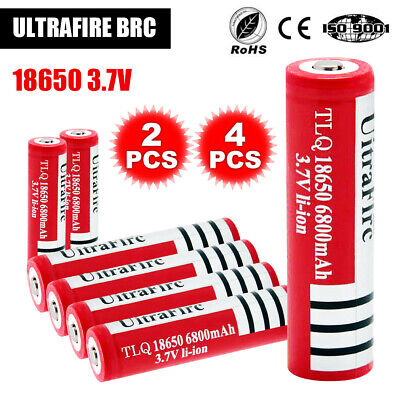 New 2X 4X Ultrafire 18650 3.7V Rechargeable Lithium Battery Li-ion Batteries AU
