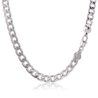 Mens Stainless Steel Cuban Link Chain Heavy Necklace Vintage 18.9in Men