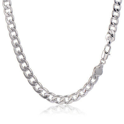 Mens Punk Stainless Steel Cuban Link Chain Heavy Necklace 18.9in Men Fashion