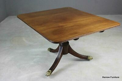 Quality Antique Mahogany Rectangular Tilt Top Dining Breakfast Centre Table