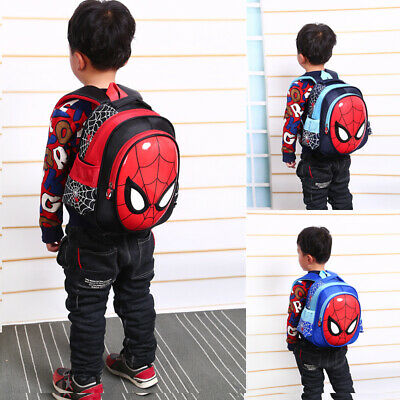 3D Spiderman Backpack School Bag Waterproof Travel Bags For Boys Kids 3 Colors