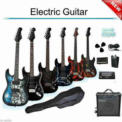 Electric Guitar With Amp Tuner Bag Pickup Strap Set