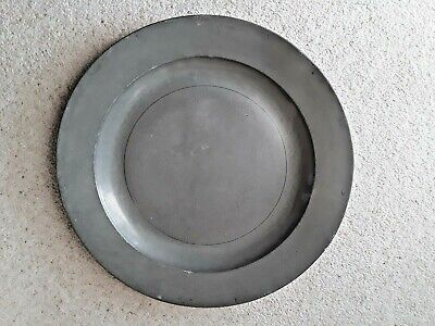 "OLD ANTIQUE PEWTER CHARGER 14 -1/2"" Diameter William Hogg of Newcastle"