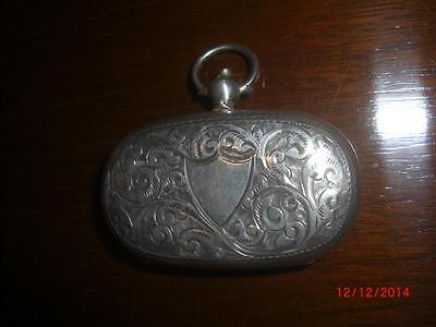 Edwardian English Hallmarked Sterling Silver Double Sovereign Case 1903