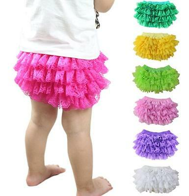 Baby Girls Newborn Nappy Diaper Cover Bloomers Panties Lace Ruffle Shorts Pants