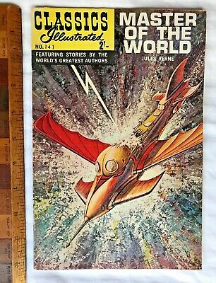Vintage Classics Illustrated Comic 141 Master Of The World Uk & Aussie Edition!!
