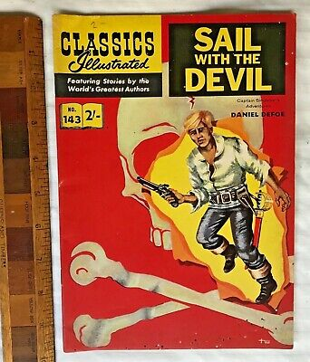 Vintage Classics Illustrated Comic 143 Sail With The Devil British & Aust Only!
