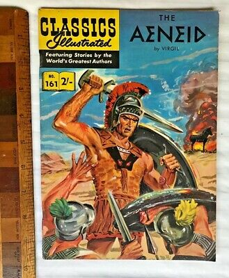 Vintage Classics Illustrated Comic 161 The Aeneid Painted Cover Uk & Aussie Only