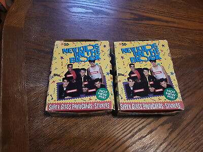 New Kids on the Block 1989 Box of 36 Sealed Topps  Photo Card LOT of 2 Boxes