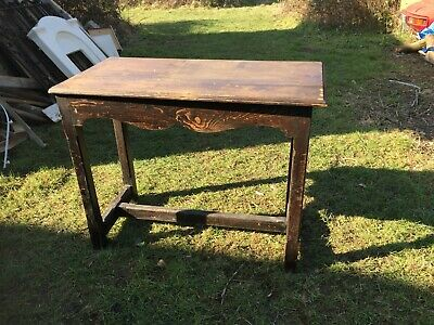 Antique French Oak Refectory Console Hall Table