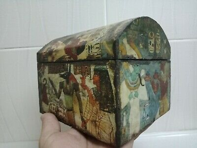 Box of Secrets Ancient Egyptian civilization rare piece. Wood