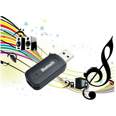 Wireless Bluetooth USB Music Stereo Receiver Home Car 3.5mm AUX Audio Adapter