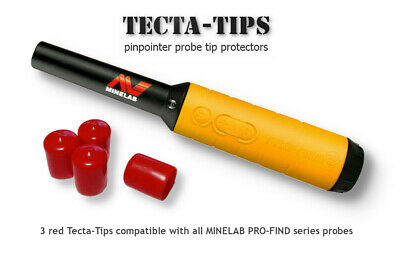 MInelab Pro-Find 15 20 35 Pinpointer Red Tip Protector pack of 3. FREE UK POST