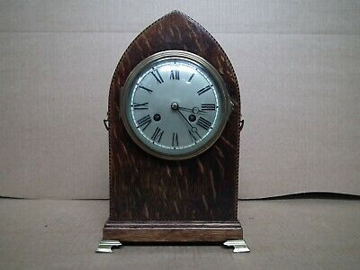 French Mahogany Inlaid Lancet Mantle Clock