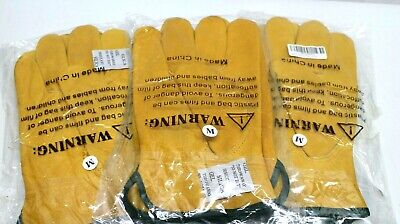 3 x EINSKEY Leather Work Gloves,Thorn Proof Gardening Gloves, Heavy Duty M
