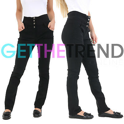 Girls School Trousers Black School Stretch Miss Sexies Pants Skinny Fit Trouser