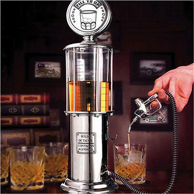 New Pretty Tage gas Pump Bar Drinking Alcohol Liquor Dispenser ^P