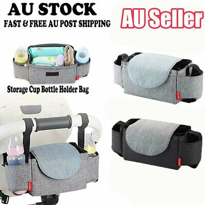 Baby Cup Pushchair Pram Buggy Storage Stroller Organiser Bottle Holder Mum Bag c