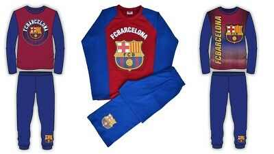 Barcelona FC Boys Girls Kids Football Pyjamas PJs  Nightwear Cotton