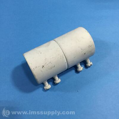 """4"""" White Pipe, 4 Bolts Usip"""