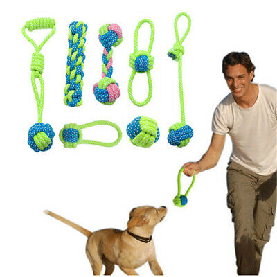 Training Play Node Puppy Chew  Dog Rope Toy Pet Teeth Ball Braided Cotton