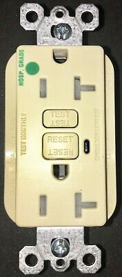 Pass Seymour 2095HGTRAI Tamper Resist Hospital Alarm 20A IVORY GFCI FREE SHIP