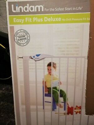 Lindam Easy Fit Deluxe Baby Safety Gate - White