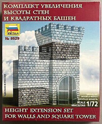 Zvezda 8529 Height Extension Set for Walls and Square Tower 1/72 (V-123