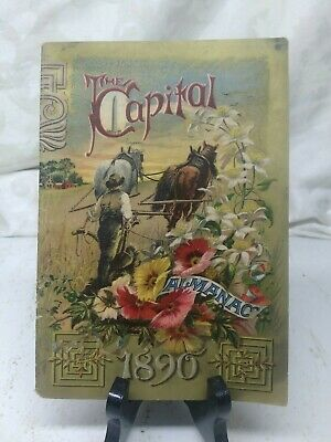 Vintage The Capital 1890 ALMANAC from A. Loeffler, Lyons, NY Antique Very Nice