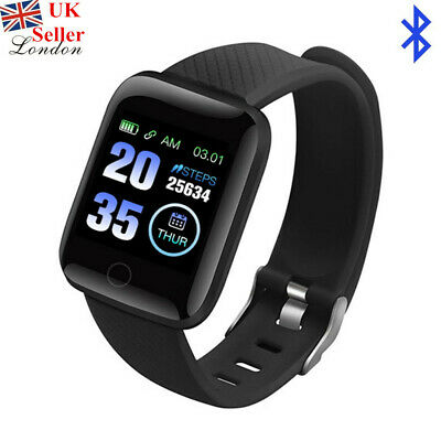 Black 116Plus Smart Sport Watch Bluetooth Loop Fitness Activity Health Tracker L