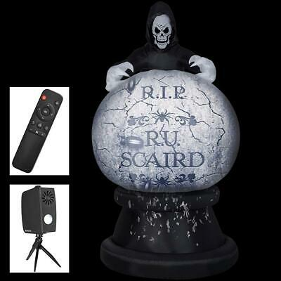 8.5' Halloween Pumpkin Projection Reaper Airblown Inflatable Haunted House Prop