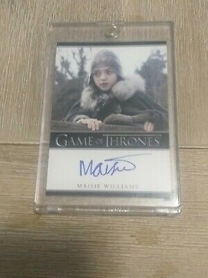 Rare Game Of Thrones Arya Stark Maisie Williams Autographed Card Season 1 2012