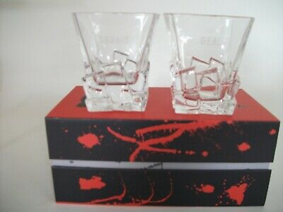 The Square Deal Premium Crystal 11oz Whisky Glasses Set of 2