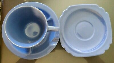 Rare - Homer Laughlin Fiesta Harlequin Blue Cup Ashtray/Saucer Riviera Saucer