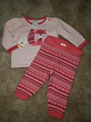 NWT Gymboree Girls Baby Outfit Winter Fleece Fox Size 3-6 Months RET $46